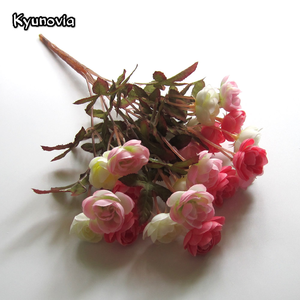 Kyunovia decorative artificial 7 fork camellia tea rose flower kyunovia decorative artificial 7 fork camellia tea rose flower bouquet diy wedding home decorations party accessories ky19 in artificial dried flowers izmirmasajfo