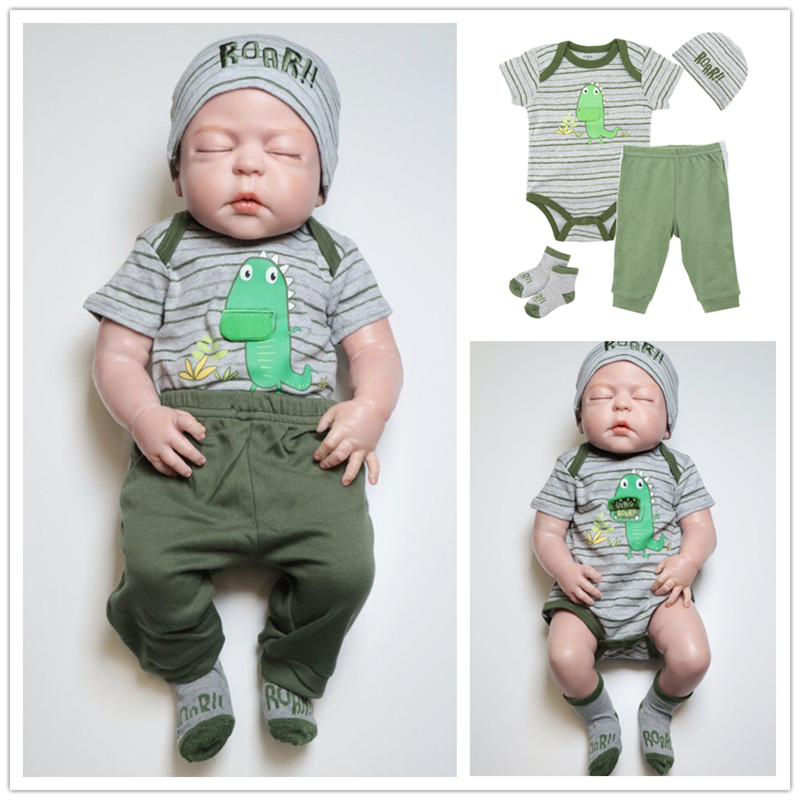 be65f7c7d Dino Embroidery Cartoon Newborn Baby Clothes Set Baby Boy Rompers Summer  Clothing Toddler Onesie Sock Recien Nacido Baby Romper