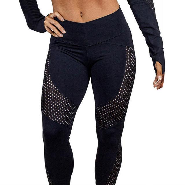 5dd5d35b8 Mallas deportivas elásticas de compresión para mujer Leggings deportivos  Push Up de alta cintura para mujer