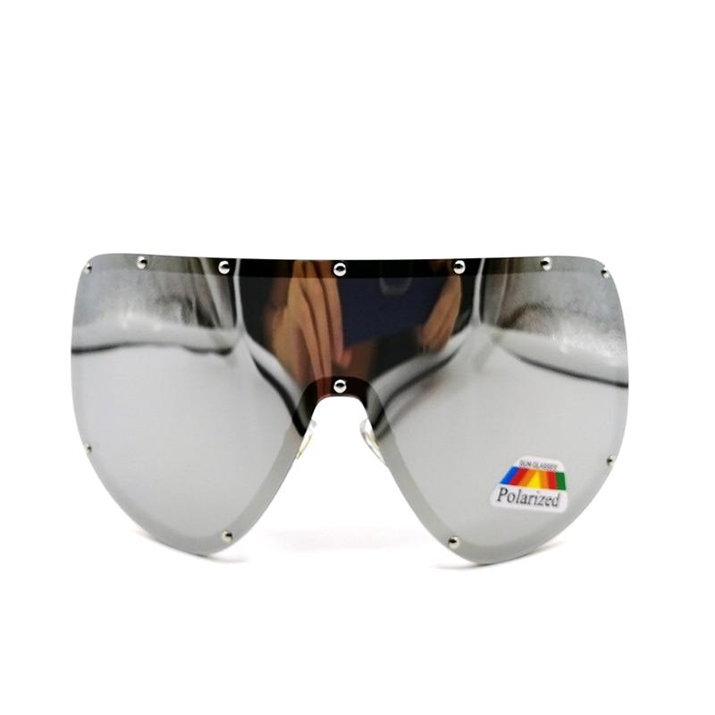 f26926156f Sunglasses Shield Oversize Metal Frame Retro Style Women Huge Sun Glasses  Men Luxury Brand Vintage Lens