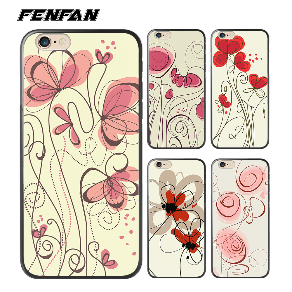 Soft silicone TPU for coque iPhone 6S case Flower for iPhone 6 cover 2017 new arrivals