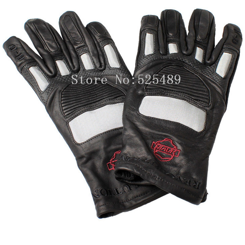 Men Brand Carbon Fiber Genuine Leather Motorcycle Gloves motocross off road Protective Gear Gloves Moto Outdoors