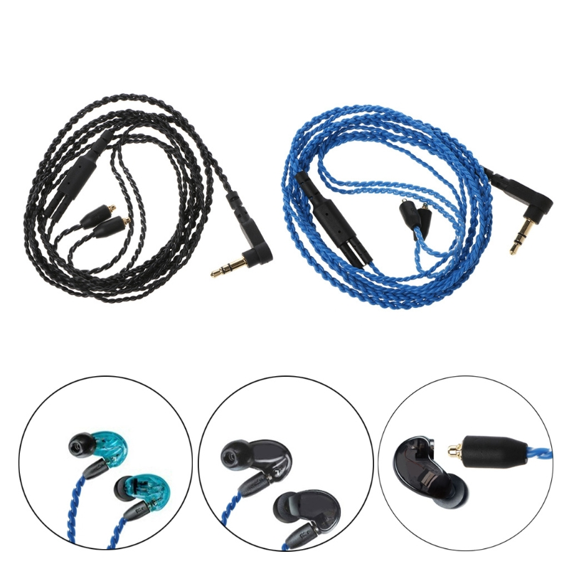 OOTDTY Headphone Cables Cord MMCX Cable for Shure SE215 SE315 SE535 SE846 Earphones