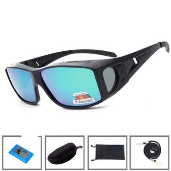 7997e3161e Newboler Fit sobre gafas de pesca con revestimiento polarizado Clip de  lente en gafas de sol gafas deportivas para hombres mujeres conducir peche  de Camping