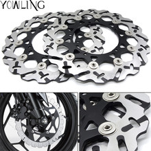 For YAMAHA FZ1 1000CC 2006 2007 2008 2009 CNC Front Brake Discs FZ1 Motorcycle Brake Rotors Floating Disc все цены