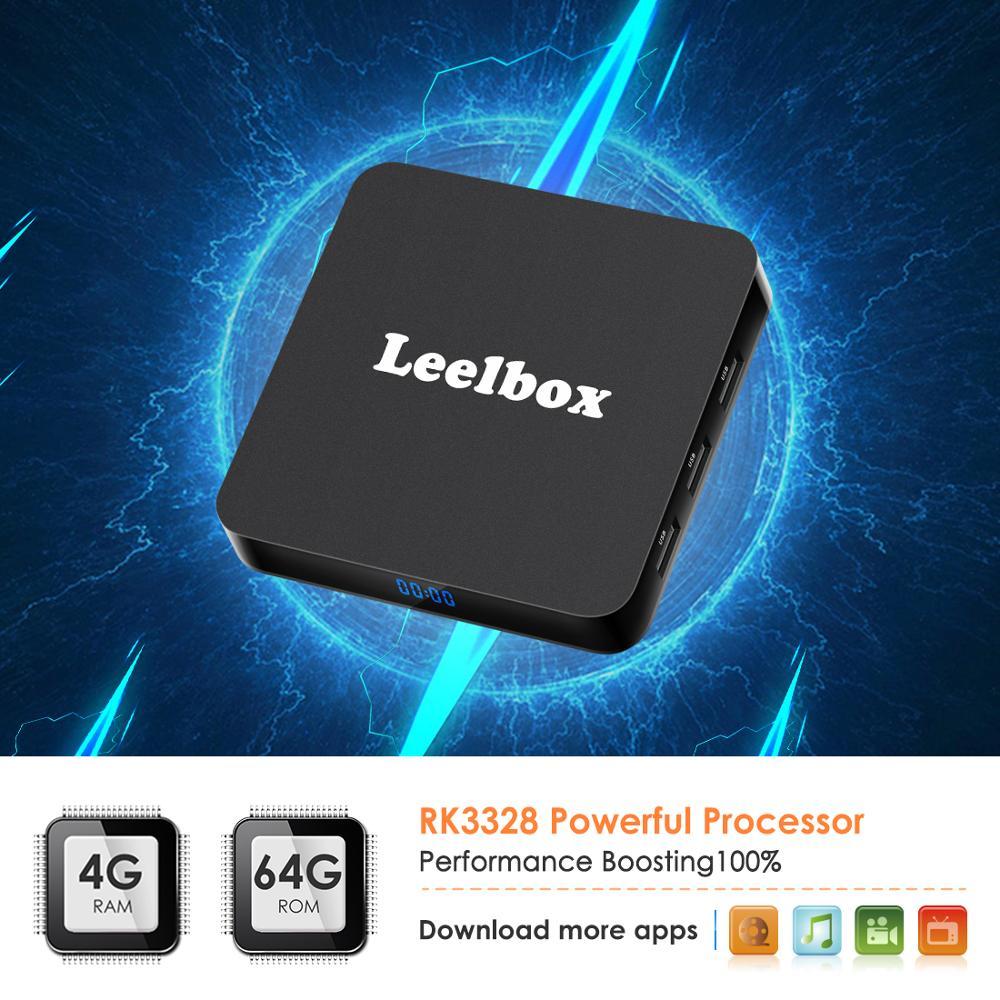 Leelbox Q4 Plus Smart TV Box Android 9.0 TVBox 4GB Ram 64GB Rom Rockchip RK3328 4K H.265 USB3.0 2.4Ghz WiFi IP TV Set Top BoxLeelbox Q4 Plus Smart TV Box Android 9.0 TVBox 4GB Ram 64GB Rom Rockchip RK3328 4K H.265 USB3.0 2.4Ghz WiFi IP TV Set Top Box