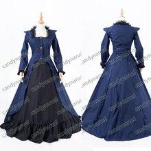 Nueva moda gótica de la criada del traje de cosplay anime halloween party balón vestido vintage vestidos del bowknot mujeres lolita dress. victoriano