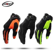 цена SUOMY Motorcycle Gloves Men Racing Gant Moto Motorbike Motocross Riding Gloves Motorcycle Breathable Summer Full Finger Guantes онлайн в 2017 году
