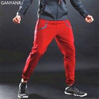 GANYANR Brand Running Pants Men Athletic Leggings Yoga Gym Basketball Fitness Training Sport Jogging Elastic Sportswear