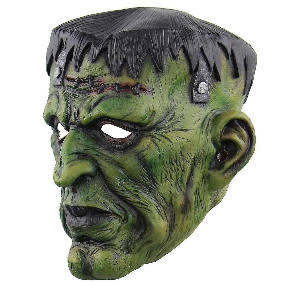 Męska uniwersalna Deluxe maska napowietrzna, jak pokazano chluba Halloween zło straszny diabeł zielone potwory horror zombie maska