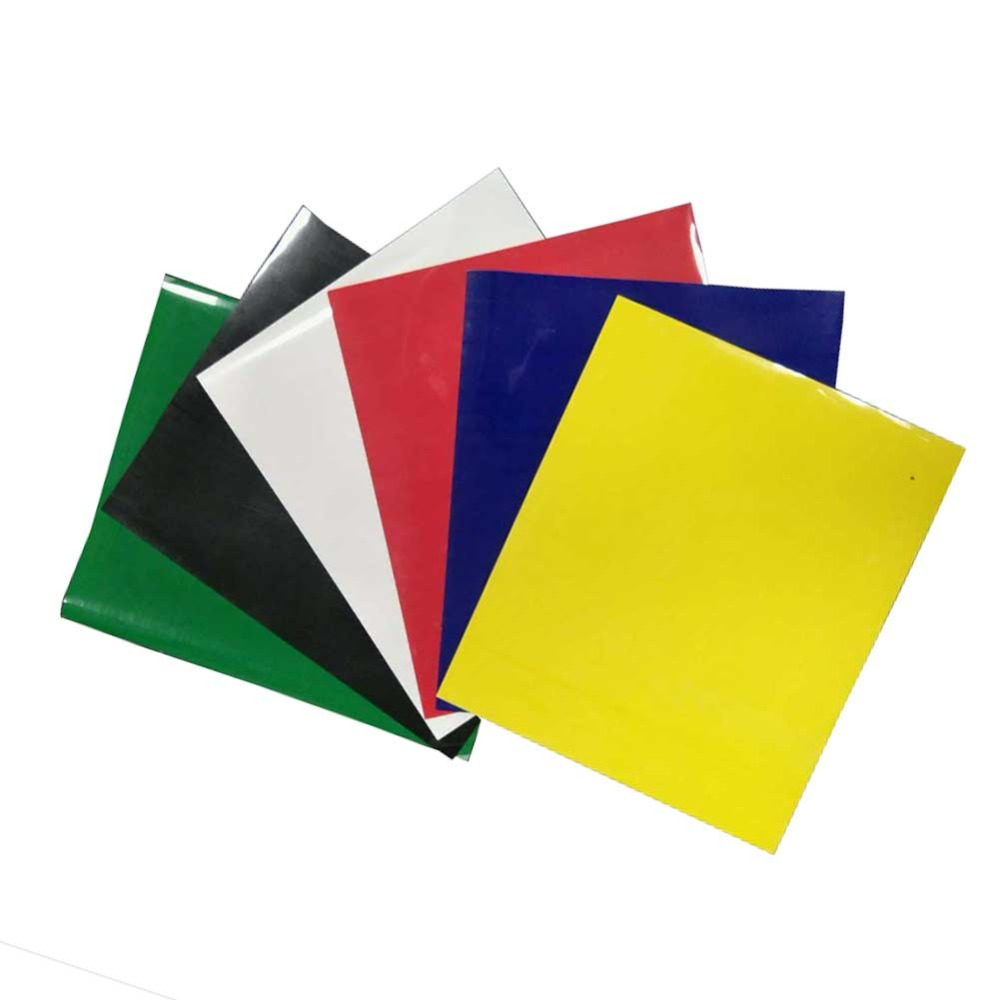 Heat transfer vinyl 6 sheets 10*12 inch high elastic HTV iron on for T shirts easy to cut home decor film hip hop