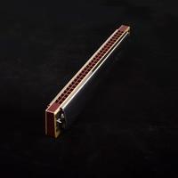 Swan 28 hole wide range harmonica C tremolo harmonica professional wind instrument swan harmonica