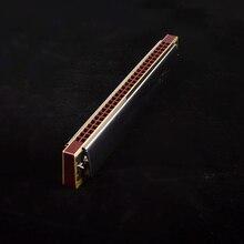 Лебедь 28 отверстий Широкий диапазон Губная гармошка звук TREMOLO Master Губная гармошка Профессиональный духовых инструментов