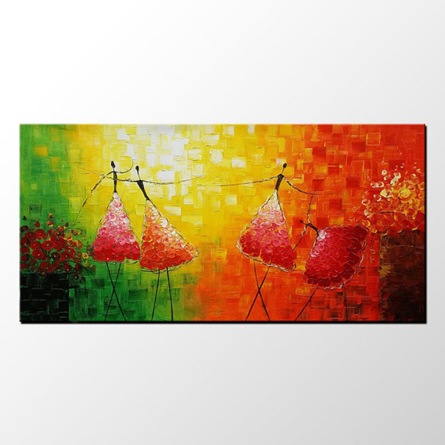 Hand Painted Modern Abstract Art Ballet dancer oil painting Abstract ...