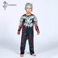 Raytheon Costume Marvel Movie The Avengers Superhero Cosplay Suit Anime Boy Bodysuit Halloween kid Costumes for party