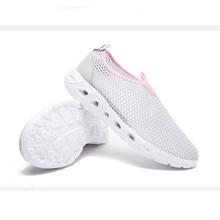 bf07f1849 تنفس الهواء شبكة النساء أحذية خفيفة بدون كعب جولة اصبع القدم كسول شقة عارضة  الصنادل واحدة طالب المدرسة زلة على قطيع أحذية واسعة .