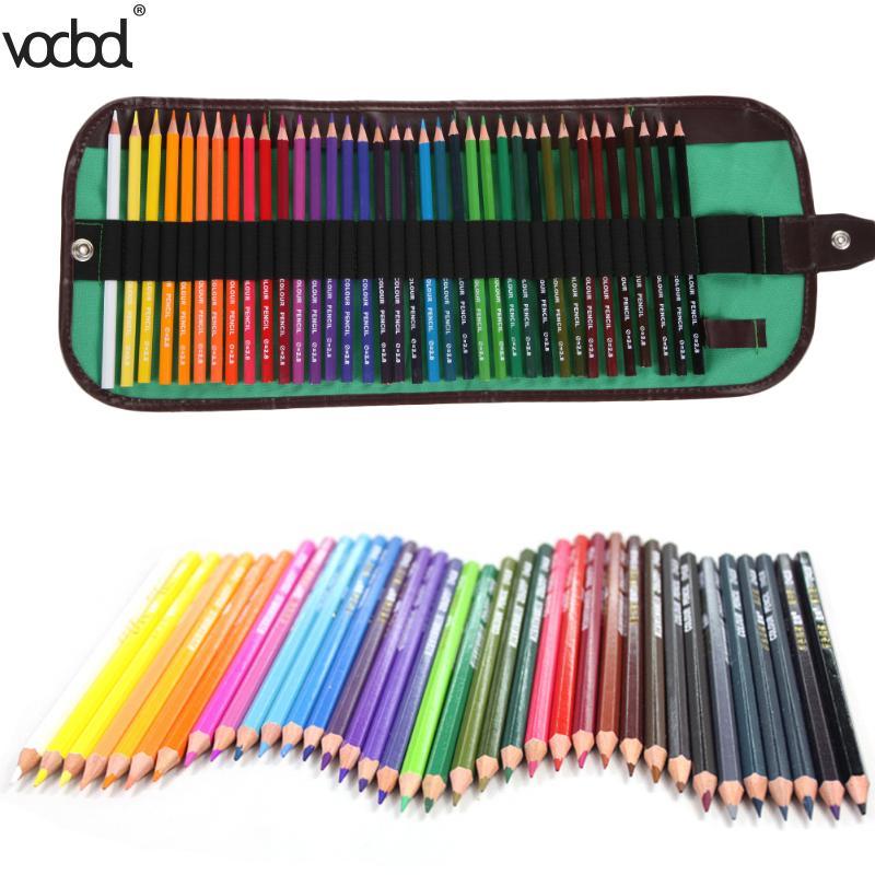 все цены на 36Color/Roll Watercolor Pencils Safe Non-toxic Colored Pencils For Art Drawing Lapices de colores lapis
