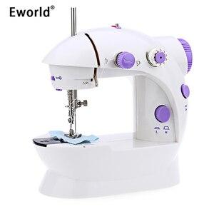 Image 1 - Mini macchina da cucire a pedale portatile Eworld, doppia velocità, doppio filo, multifunzione, elettrico, automatico, riavvolgimento del battistrada, macchina da cucire