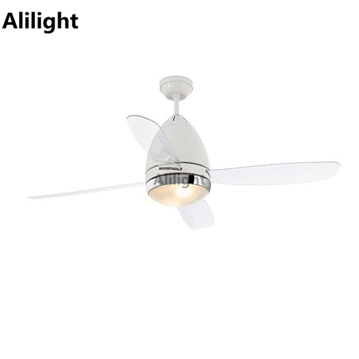 220v Ceiling Fans: White 220V Ceiling Fans with Light Remote Control Modern Lamp for Dinning  Room Suspension Transparant Leaf,Lighting
