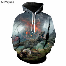 Jurassic World Fallen Kingdom Dinosaur 3d Print Jacket Menwomen Hoodies Sweatshirt