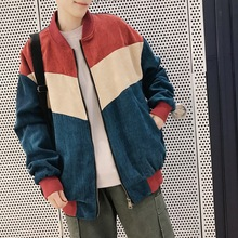 2018 Spring Newest Men's Korean Style Fashion Coats Corduroy Fabric Outerwear Clothes Loose Casual Bomber Male Jackets M-2XL