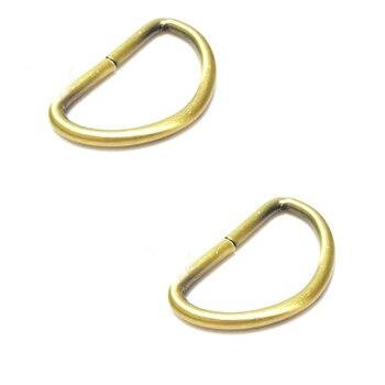 2 Inch Unwelded D-Rings Bronze metal ring