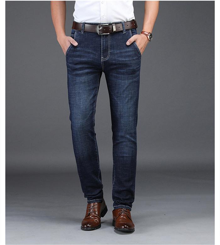 Jeans Pria Blue Black Denim Bisnis Stragiht Silm Fit Jeans Ukuran 30 32 34 36 38 40 42 Celana Jean Untuk Pria Nd8933 Jeans Aliexpress