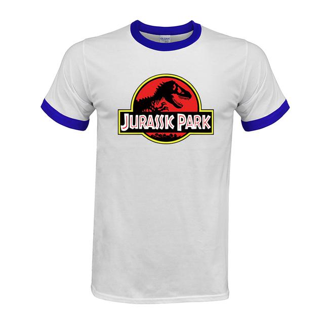 JURASSIC PARK Print Men T Shirt 100% cotton Casual Funny T Shirt cozy Tops Jurassic World Tees Short Sleeve Free shipping