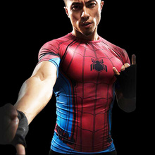 Captain America T-shirt 3D Printed T-shirts Men Avengers iron man Civil War Tee Cotton Fitness Clothes Male Crossfit Tops