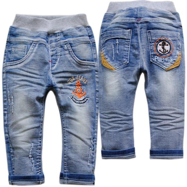 3969 детские джинсы мальчиков брюки детские брюки весна осень голубой дети мода новые мягкие джинсы