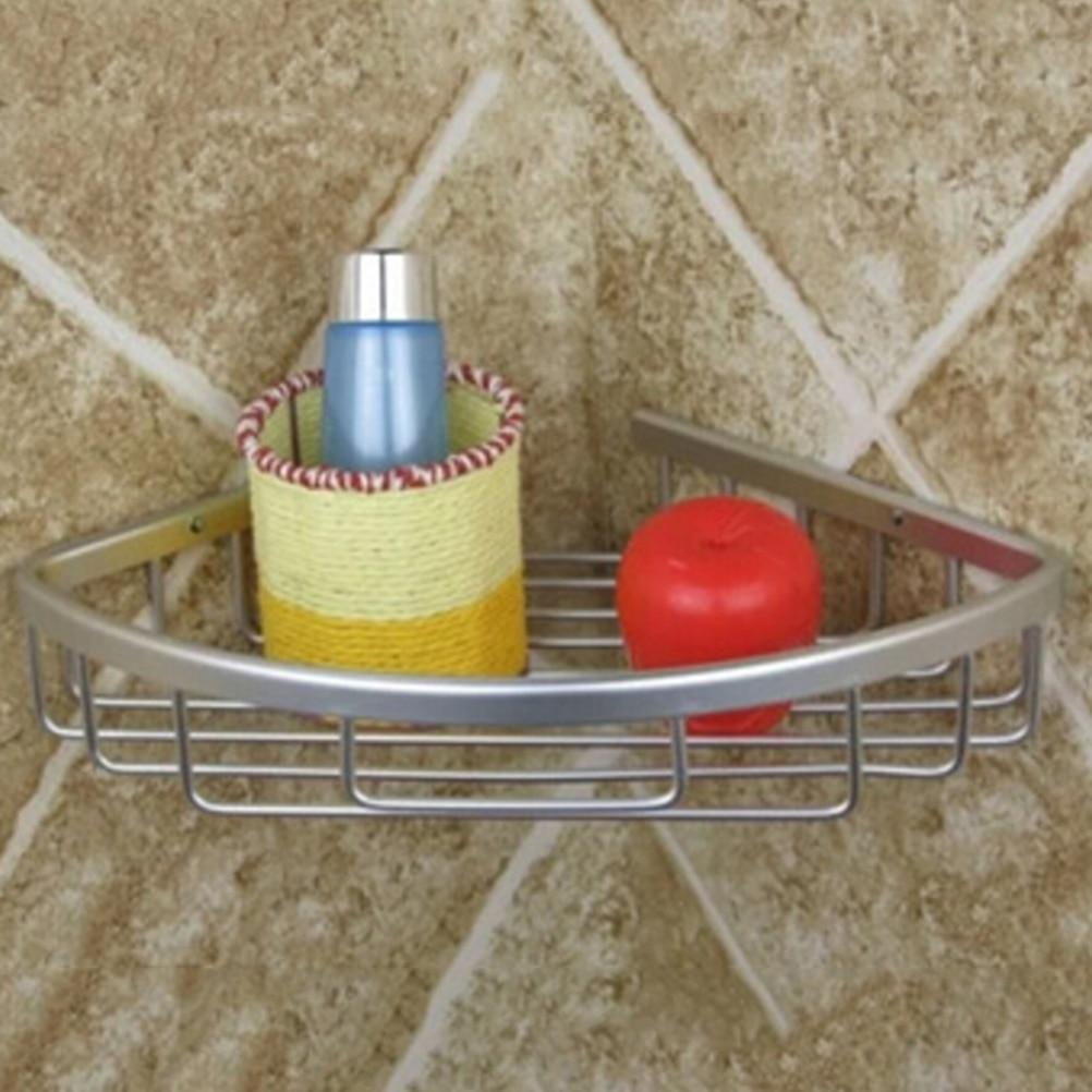 Aluminum Shower Wall Mount Corner Shelf Holder Bathroom Storage ...