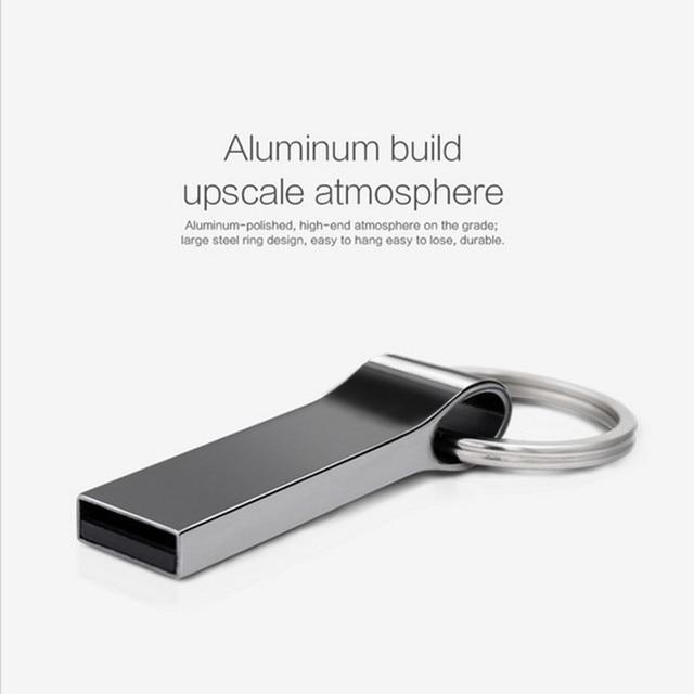 Key Mini USB flash Drive 128GB 64GB 32GB 16GB 8GB Metal Pen Drive Pendrive 128 64 32 16 8 GB USB Flash Memory Cle USB Stick 3