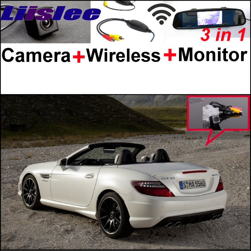 For Mercedes Benz SLK MB R172 3in1 Special WiFi Camera + Wireless Receiver + Mirror Screen Rear View Back Up Parking System liislee for mercedes benz cl mb w216 cls w218 special camera wireless receiver mirror screen 3in1 backup parking system