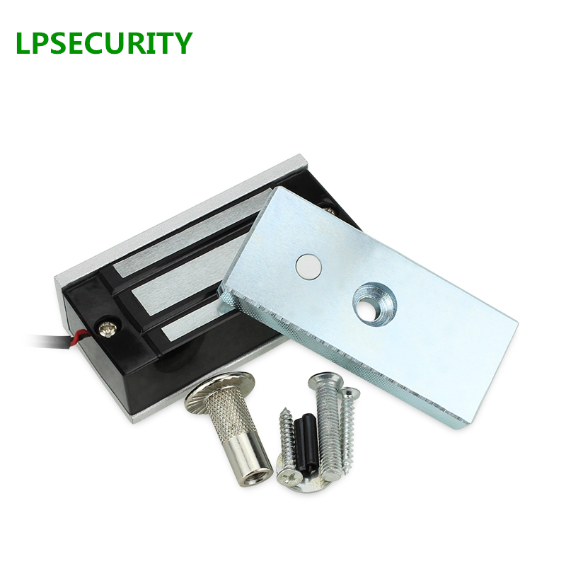 LPSECURITY 60kg cabinet 12v Door Electric Magnetic Lock for RFID door access control system/electric magnetic door lock wholesale free shipping 3 pieces electric lock 60kg electromagnetic lock 120lbs door lock one door magnetic locks