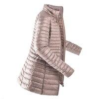 Women Down Coat 2019 Winter Warm Jacket Ultra Light 90% Duck Down Jacket Warm Parka Casual Brand Long Jacket Female Plus Size