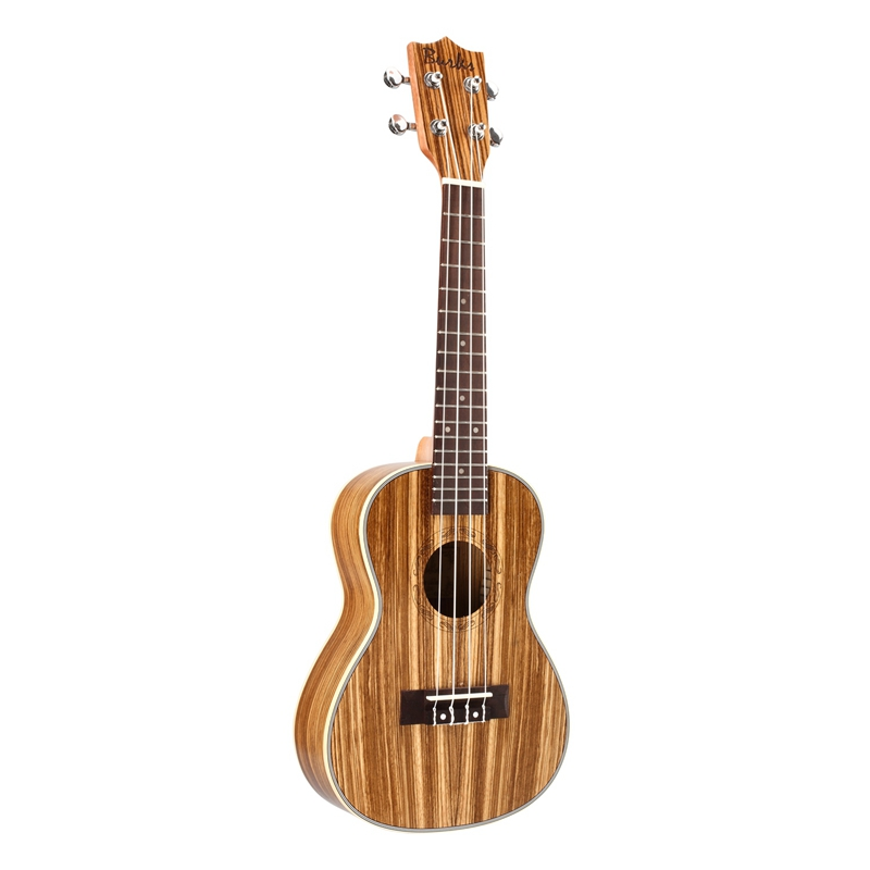 Burks Ukulele Guitar Acoustic Ukelele Zebrawood 15 Fret 4 Strings Guitar Ukulele 21 Stringed Instrument For Music Lovers