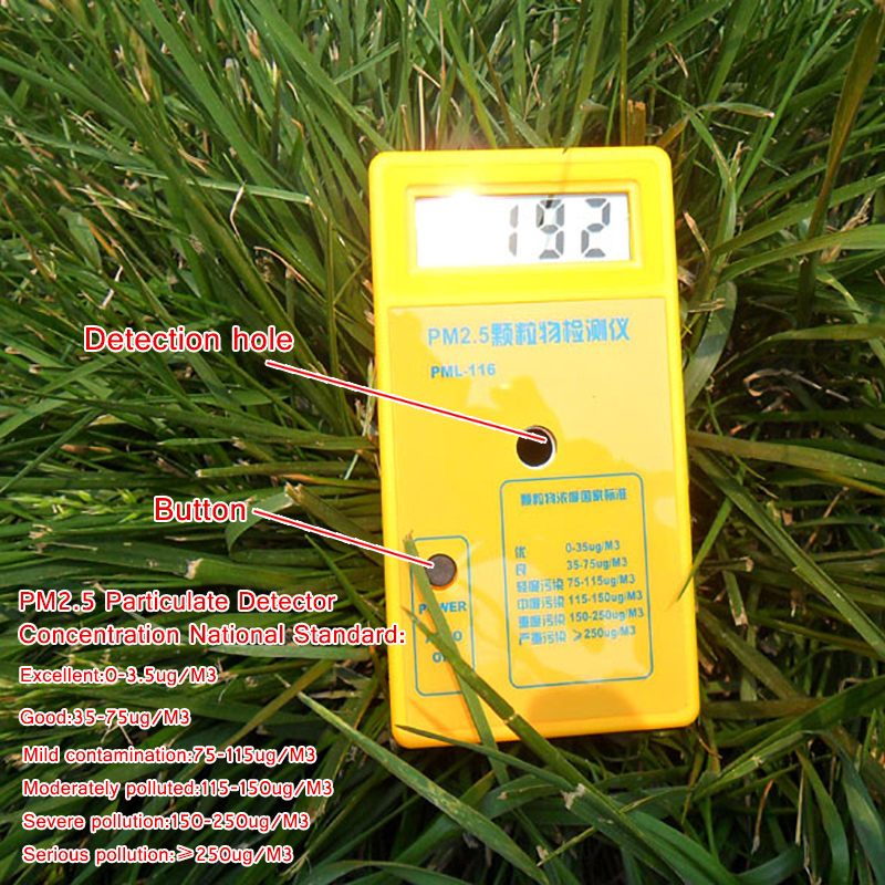 PM2.5 detektoriaus oro kokybės stebėjimo priemonė Dalelių dulkių - Matavimo prietaisai - Nuotrauka 2