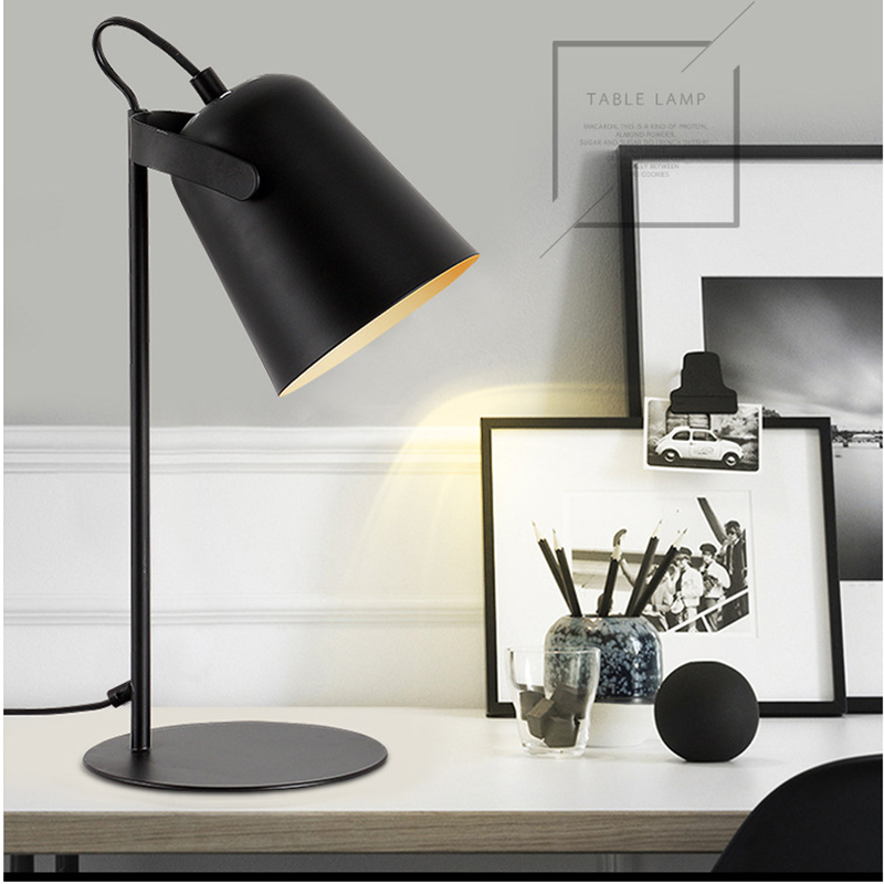 Us 51 2 60 Off Modern Art Deco Painted Nordic Style Creative Desk Lamps E27 Led 220v Table Lamp For Office Reading Bedside Home Bedroom Study In Led