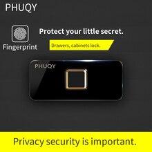 PHUQY Smart Lock Furniture Fingerprint lock closet drawer Home self-installed office electroni