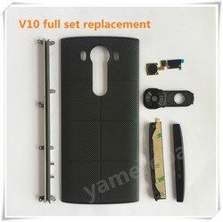 Back Cover for Lg V10 housing full set for Lg V10 Battery Cover Case for Lg V10 Camera lens/Touch id/Top Bottom Cover H961N