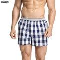 BXMAN 100% Algodón Tejido Clásico de la Tela Escocesa Floja de Alta Calidad Los Hombres Del Boxeador Shorts hombres Ropa Interior