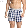 BXMAN 100% Cotton Woven Classic Plaid Pattern Loose High Quality Men Boxer Shorts Men's Underwear