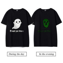 6698e2963 Funny cute ghosts I'll haunt your dreams printed luminous t shirts men  women creative