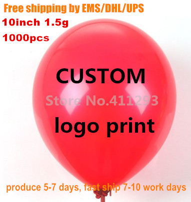1000pcs custom balloons logo balloon printing for event promotion personalized ballons blanco Fast ship by EMS