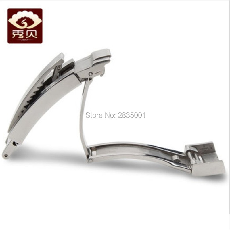 316L Stainless Steel Silver Watch Buckle Original Style Oyster Clasp 16mm Glidelock for Daytona Submariner Deployment