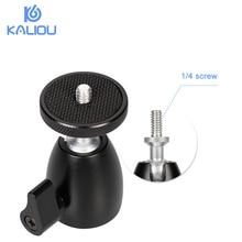 """Kaliou Mini Ball Kopf Stativ Kopf von 360 Swivel DSLR DV Kamera Mini Stativ Dsr Kugelkopf 1/4 """"Schraube Montieren stehen DSLR Mini Stativ"""