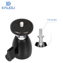 """Kaliou Mini piłka głowica statywu z 360 obrotowe DSLR kamera DV Mini statyw Dsr głowica kulowa 1/4 """"śruba do mocowania DSLR Mini statyw"""