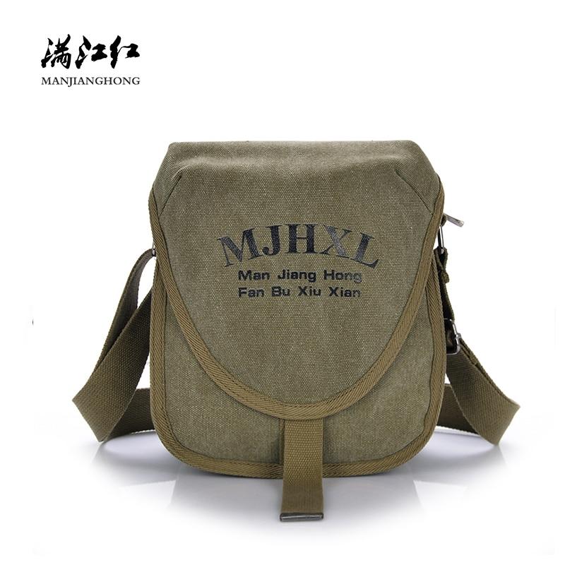 Messenger-Bags Shoulder-Flap-Bag Sling Canvas Vintage Crossbody Small Male New-Fashion