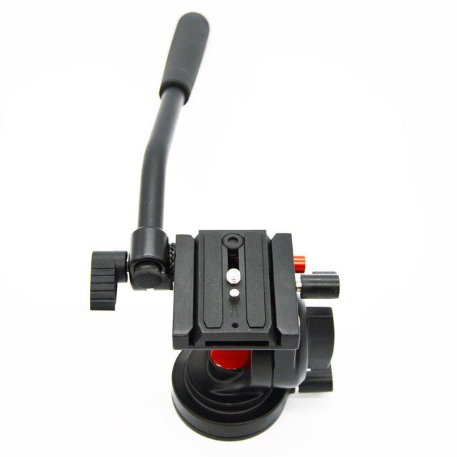Fluido cabeça carga máxima 5 kg profissional com 1/4 rlease rápida placa compatível para canon nikon pentax sony