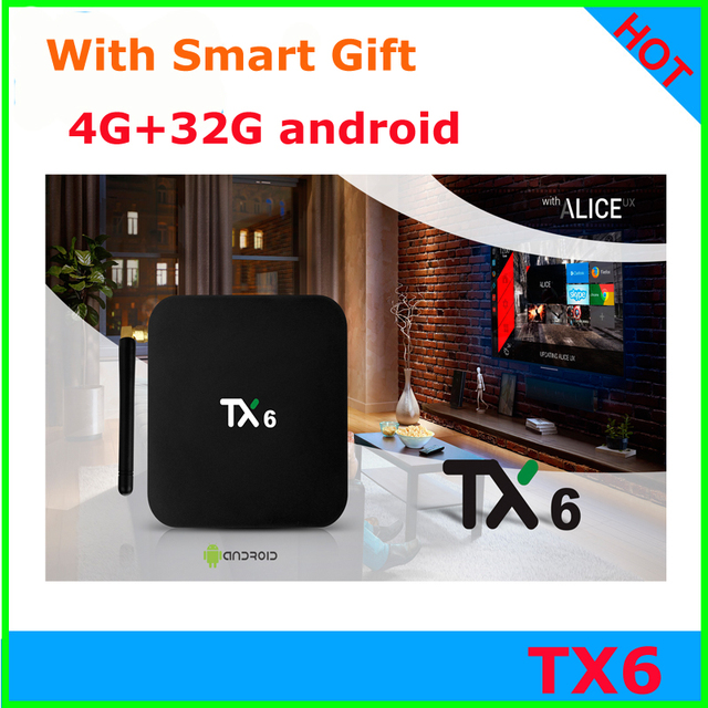 US $41 0 |Tanix Android 7 1 TV BOX TX6 Allwinner H6 4GB ram 32GB EMMC  2 4GHz 5GHz WiFi BT4 1 Support 4K H 265 Bluetooth 4 0 WIFI -in Set-top  Boxes